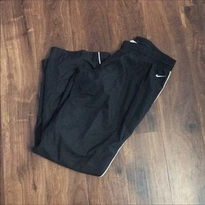 Black Nike wind stopper pants medium 8-10